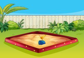 Uma caixa de areia vetor