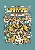 o incrível leopardo vetor