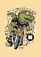 piloto de trex motocross vetor