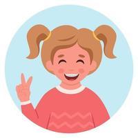 menina com aparelho nos dentes. cuidado dental. vetor