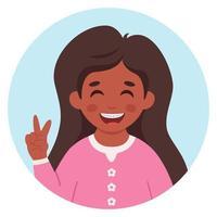 menina com aparelho nos dentes. estudante do ensino fundamental. vetor