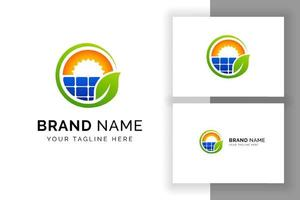 modelo de design de logotipo de energia solar sol. design de logotipo de energia ecológica vetor