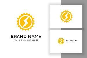 modelo de design de logotipo de energia solar sol. design de logotipo de tecnologia solar vetor