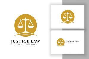 escalas ilustração vetorial. projeto de vetor de logotipo de advogado. modelo de design de logotipo de crachá de lei de justiça