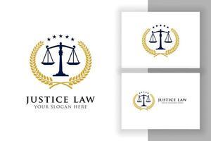 modelo de design de logotipo de distintivo de lei de justiça. símbolo do vetor do emblema do advogado