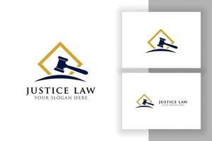 juiz martelo ilustração ícone do vetor. símbolo do martelo do juiz vetor
