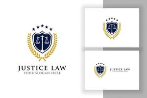 justiça distintivo logotipo design de logotipo modelo sinal símbolo vetor