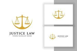 escalas ilustração vetorial. projeto de vetor de logotipo de advogado. design de logotipo do direito da justiça