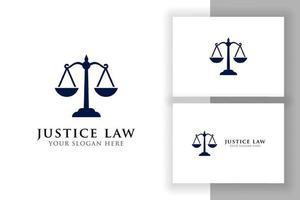 escalas ilustração vetorial. projeto de vetor de logotipo de advogado. modelo de design de logotipo de lei de justiça