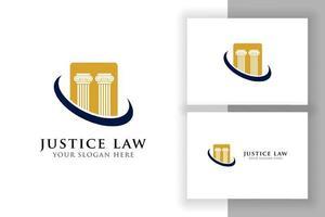 modelo de design de logotipo do pilar. direito da justiça e design de logotipo de advogado vetor
