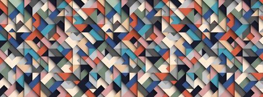 fundo geométrico abstrato colorido, efeito 3D, cores da moda vetor