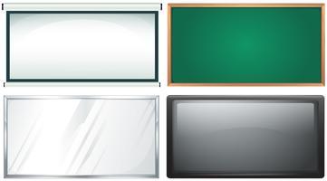 Quatro design de placa vetor