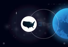 Mapa internacional do globo 3D vetor