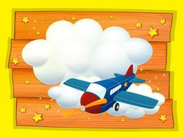 Design de moldura com avião voando vetor