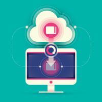 Ilustração de tecnologia Web. vetor
