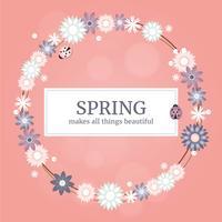 Vector Primavera saudação ilustração