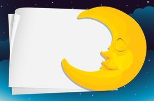 Papel de lua vetor