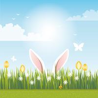 Vetorial, primavera, paisagem, ilustração vetor