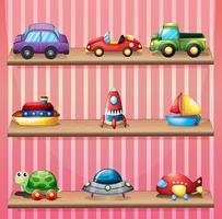 Uma coleção de brinquedos vetor