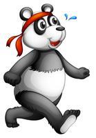 Um panda correndo vetor