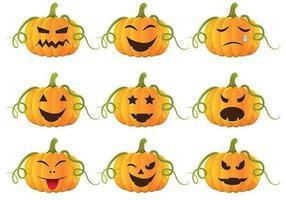 Pacote de vetores de abóboras de Halloween