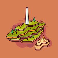 Vetor de mapa 3D
