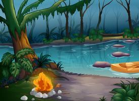 Um rio e uma fogueira