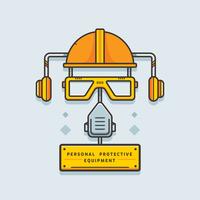Vetor de equipamento de proteção pessoal