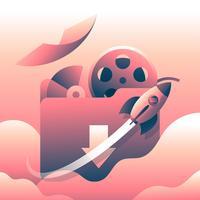 Vetor de ilustração de arquivo de torrent