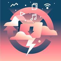 Torrent File Flash Download Vetor de ilustração