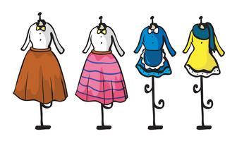 Exibição de várias roupas vetor