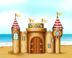 Um castelo na praia vetor
