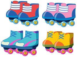 Conjunto de sapatos de patins