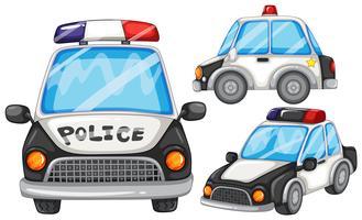 Carros da polícia vetor