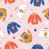 padrão de natal. padrão de inverno. padrão de suéter feio vetor