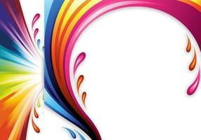 Cabeçalhos e papéis de parede de cores do Splash Vector