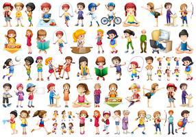Conjunto de caracteres de pessoas vetor