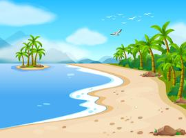de praia vetor