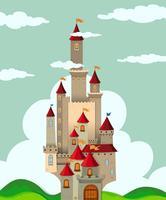 Castelo com torres altas vetor