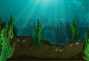 Embaixo da agua vetor