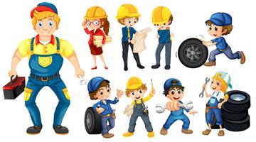 Trabalhadores vetor