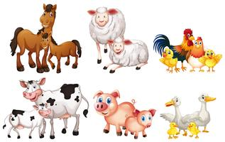 Jogo, de, animal fazenda vetor