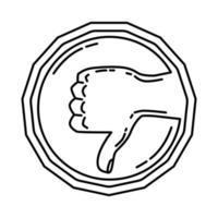 ícone de haram. doodle desenhado à mão ou estilo de ícone de contorno vetor