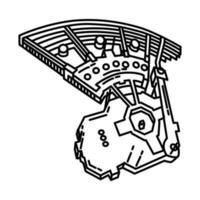 ícone masjidil al haram. doodle desenhado à mão ou estilo de ícone de contorno vetor