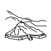 ícone de arafat do Monte. doodle desenhado à mão ou estilo de ícone de contorno vetor