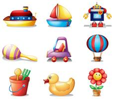 Diferentes tipos de brinquedos vetor