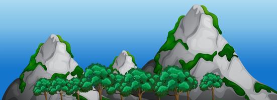Uma paisagem de montanha de rocha