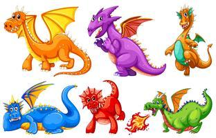 Dragões vetor