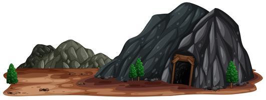 Uma pedra de mina na natureza vetor