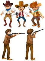 Cowboys e caçadores vetor
